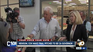 Newsom, Cox make final pitches to be CA Governor
