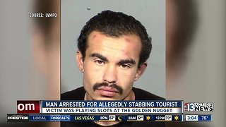 Suspect identified after stabbing at Golden Nugget