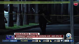 Overnight shooting investigated on Division Ave. at 6th Street in West Palm Beach - Video