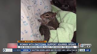 Woman with emotional support squirrel speaks out