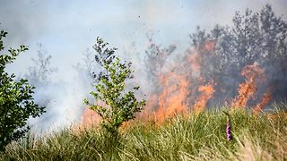 Firefighters battle wildfires caused by soaring temperatures that continued overnight - Video