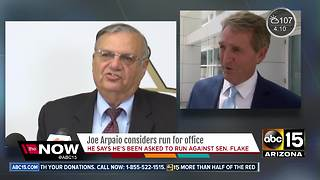 Former Sheriff Joe Arpaio to run for U.S. Senate? - Video