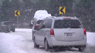 Clear snow from vehicle before driving