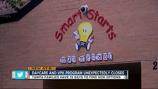 Tampa families scrambling as Hyde Park daycare abruptly closes at terrible time - Video