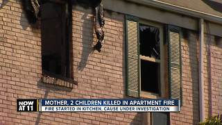 Mother, 2 children killed in Hillendale apartment fire - Video