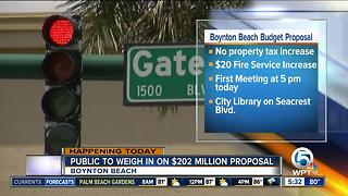Boynton Beach budget talks begin with fire tax increase proposal - Video