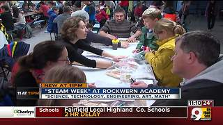 Rockwern Academy STEAM Week challenges families to build bridges - Video