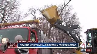 Clearing ice could become problem for road crews overnight - Video