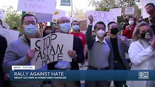 People gather in Chandler for rally against hate crimes toward Asian Americans