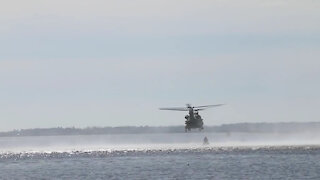 3rd Combat Aviation Brigade works with the U.S. Coast Guard to recover displaced buoys.