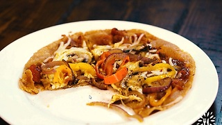Veggie Tortilla Pizza - Video