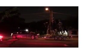 Robert E Lee Statue Removed From Dallas Park - Video