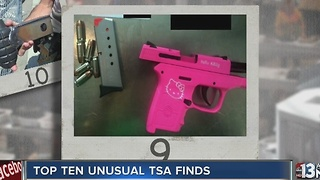 Top 10 unusual TSA finds in 2016 - Video