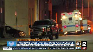 Neighbors near crime scene of slain Baltimore detective upset about police conduct - Video