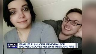 Families plan joint memorial for engaged couple killed in Westland fire - Video