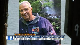 Strangers save man from near drowning incident - Video