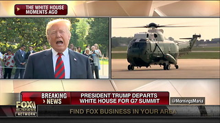 Trump Tells Reporters Russia Should Be Reinstated into G7 - Video