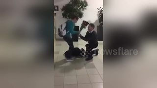 Man who suffered necrotizing fasciitis kneels down to propose to girlfriend - Video