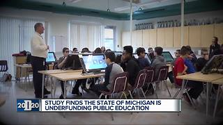 Study finds Michigan schools are underfunded