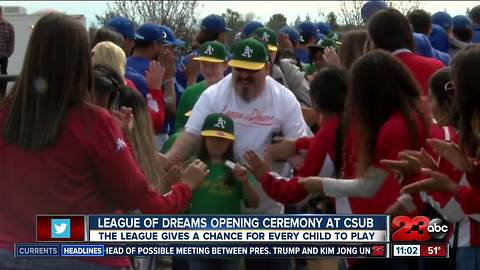 League of Dreams Opening Day ceremony at CSUB