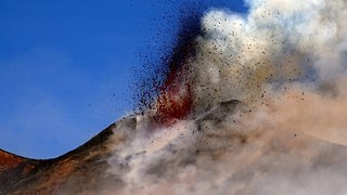 Eruption From Etna's Southeast Crater - Video