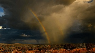 Stunning Double Rainbow Forms Over Kimberley, Western Australia - Video