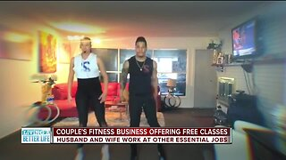Couple's fitness business offering free classes