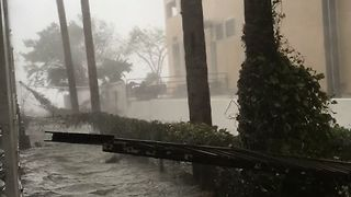 Miami's Financial District Experiences Storm Surge Flooding - Video