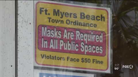 Fort Myers Beaches open, masks required