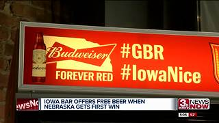 Iowa bar offers free beer when Nebraska wins first game