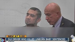 Driver sentenced for crash that injured pregnant woman, killed unborn baby - Video