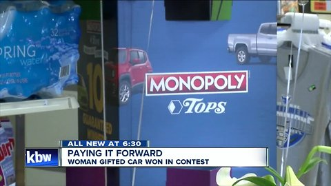 Paying it forward: woman is gifted car; uses it to help environment