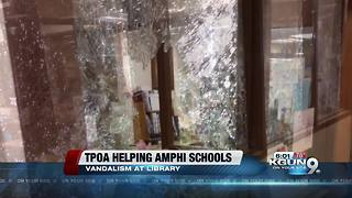 Tucson police start Go Fund Me for vandalized Amphi schools - Video
