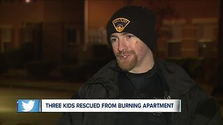 3 rescued from burning apartment