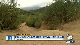 Rescue crews warning hikers - Video
