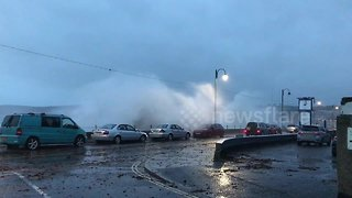 Storm Callum batters Penzance seafront - Video