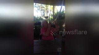 Grandmother does beer bong like a champ - Video