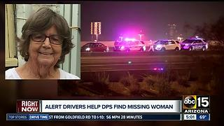 Alert drivers help locate missing woman - Video
