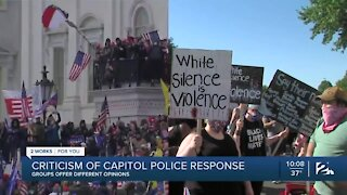Criticism of Capitol Police response, groups offer different opinions