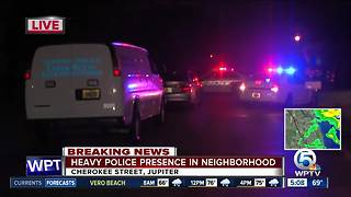Heavy police presence at Jupiter neighborhood - Video