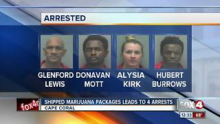 Shipped Marijuana Packages Lead to 4 Arrest - Video