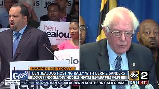 Ben Jealous and Bernie Sanders hold rally in Baltimore