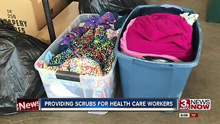 Providing scrubs for health care workers