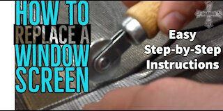 How to replace your window screen easy and fast DIY