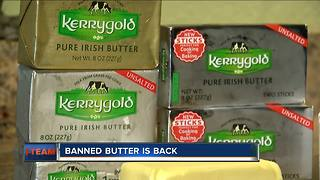 Banned Irish butter back in Wisconsin stores - Video