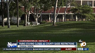 Chula Vista parks staying closed as county eases restrictions