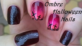 Ombre Halloween nail art tutorial - Video