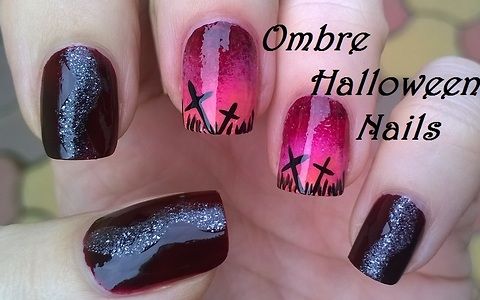 Ombre Halloween nail art tutorial