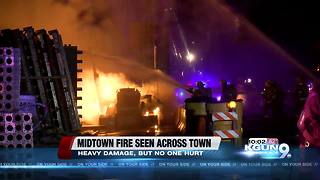 Firefighters continue to investigate cause of construction site fire - Video