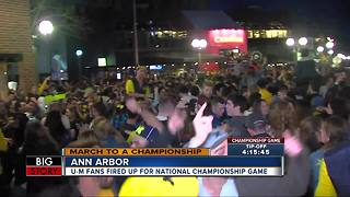 Michigan fans in Ann Arbor are ready for the National Title game - Video